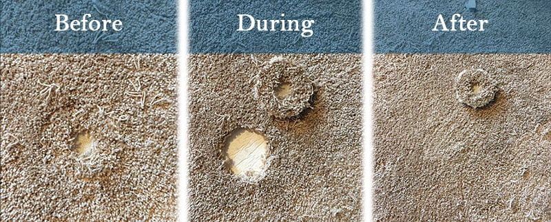 Denver carpet repair before during and after service