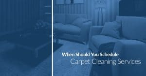 when should you schedule carpet cleaning services