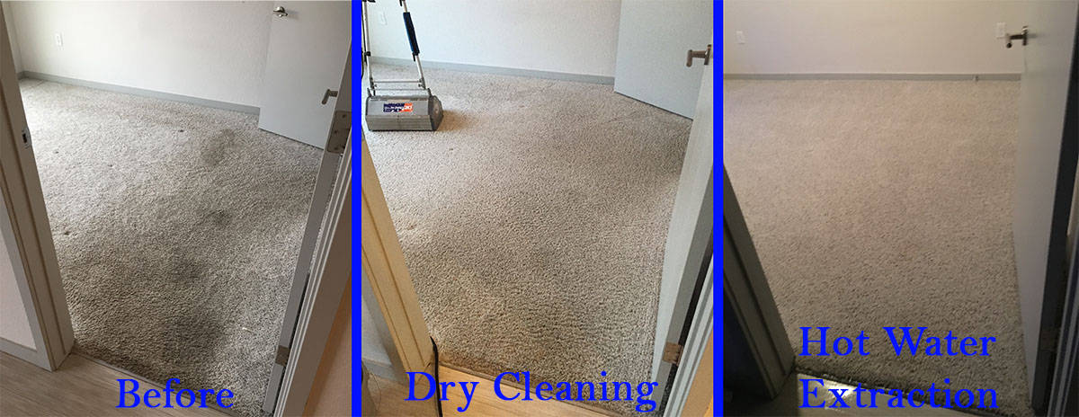 Dry carpet cleaning versus hot water extraction carpet cleaning in denver
