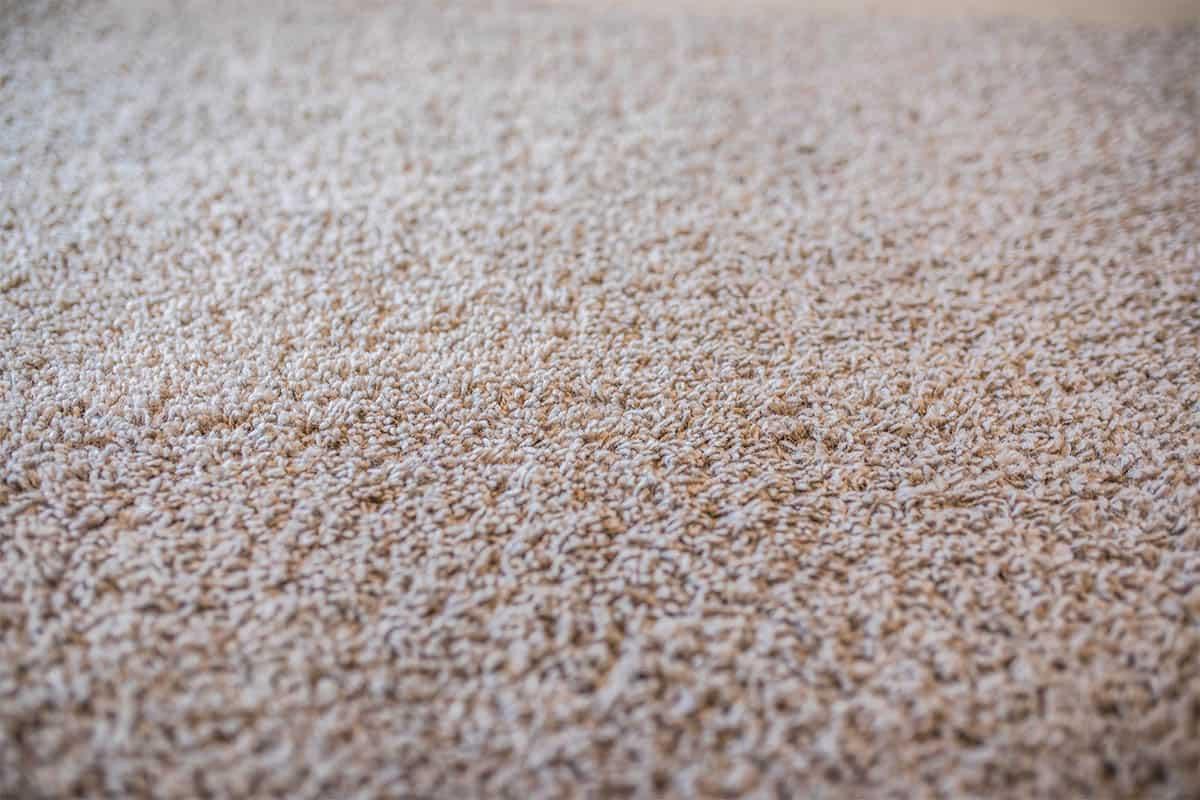 Polyester carpet in cream color