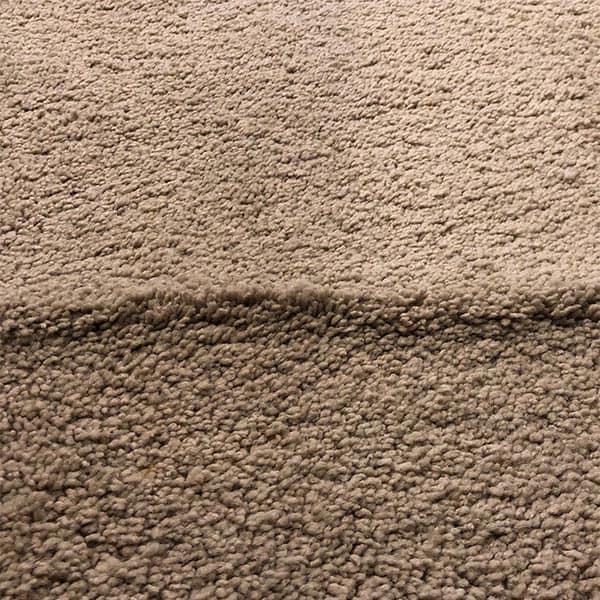 Tan wrinkled carpet