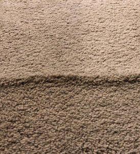 Single Wrinkle in a Piece of Tan Carpet