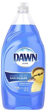 dish soap and water to remove makeup stains