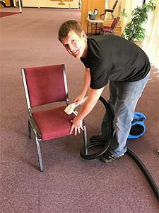 Commercial Upholstery Cleaning Denver Red Chairs