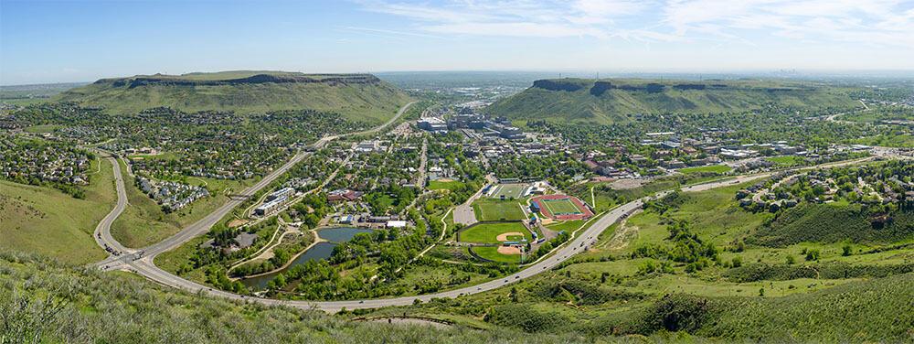 Golden Colorado landscape