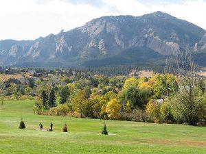 Boulder Colorado View of Flatirons