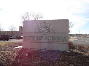 Aurora Colorado City Sign