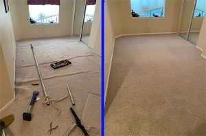 carpet stretching before and after