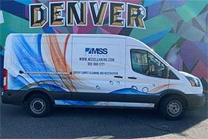MSS Cleaning carpet cleaning and restoration van
