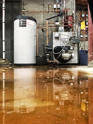 water heater leak flooding basement