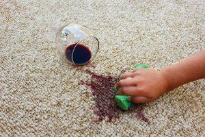 blotting grape juice stain