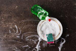 dish detergent in bowl